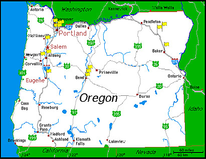 Creswell Oregon Map Oregon Map